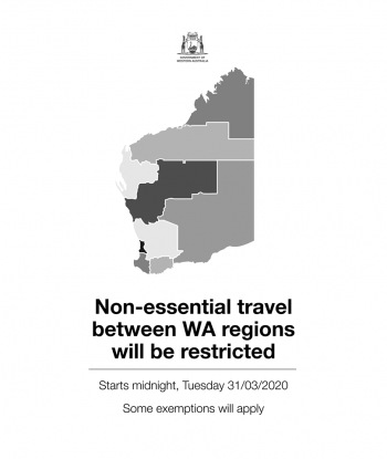 WA COVID-19 regional boundary restrictions